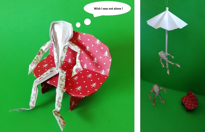 Origami figurines
